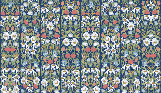Archives Wallpaper ARC-07 Withered Flowers Color by NLXL | Wall coverings / wallpapers