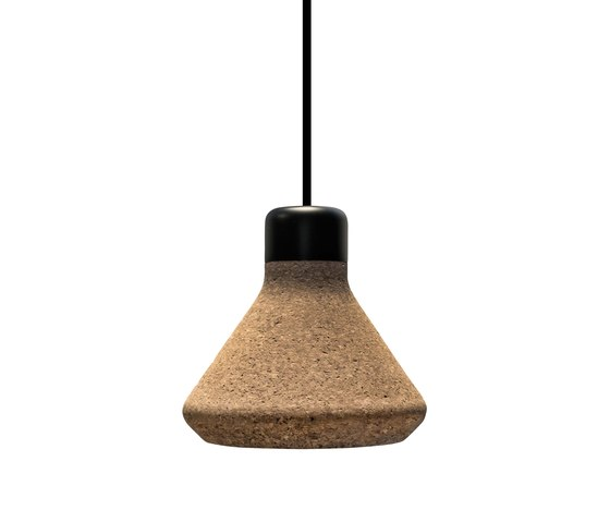 Luiz Lamp - Natural Cork by Mater | Suspended lights