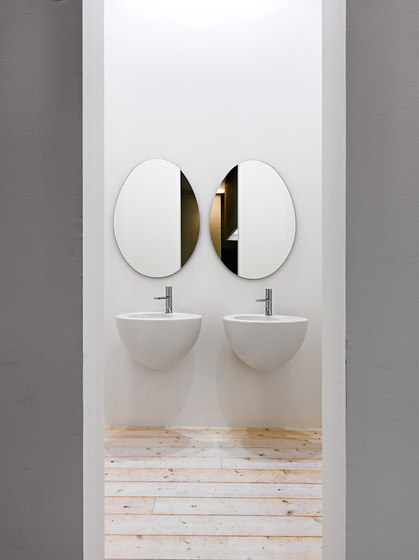 Le Giare wall-hung washbasin 56 by Ceramica Cielo | Wash basins