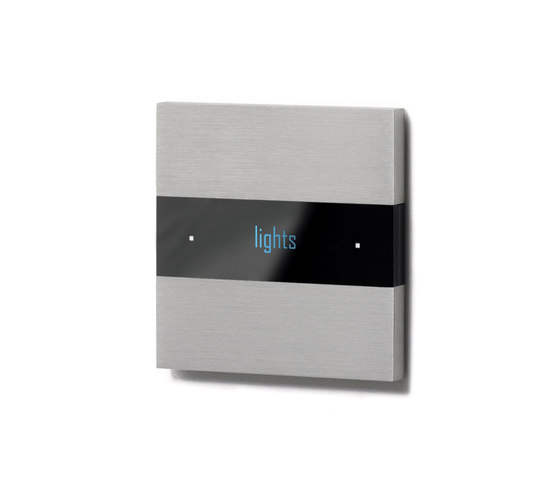 Deseo intelligent thermostat - brushed aluminium by Basalte | KNX-Systems