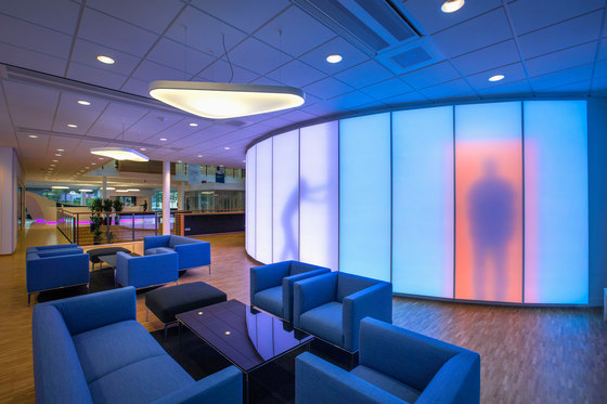 Philips luminous textile with Kvadrat Soft Cells by Philips Lighting | Partition wall systems
