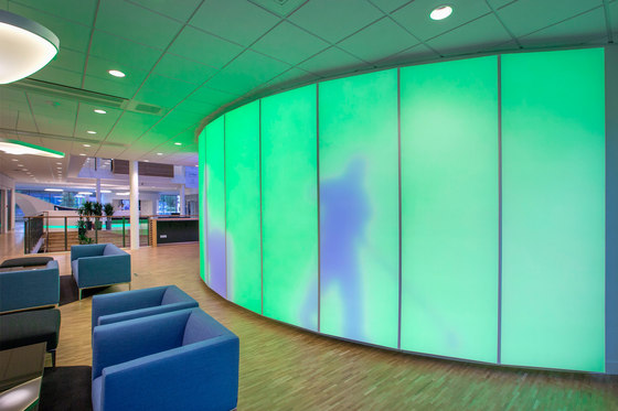 Philips luminous textile with Kvadrat Soft Cells by Signify (former Philips Lighting B.V) | Wall partition systems