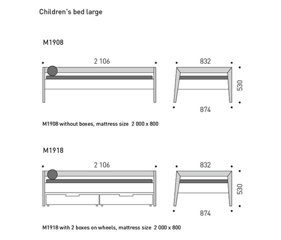 Children Bed large by MINT Furniture | Kids beds