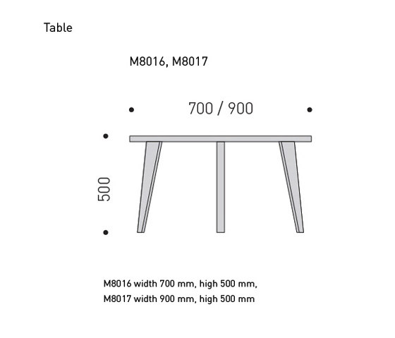 Coffeetable high by MINT Furniture | Lounge tables