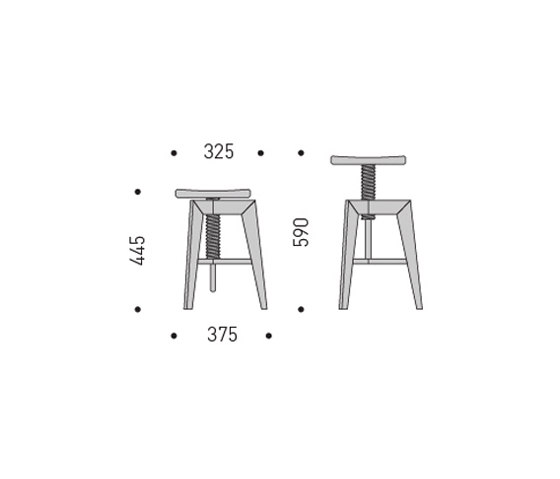 Screw Bench small by MINT Furniture | Stools
