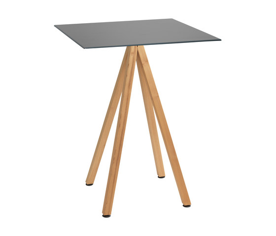 Robinia with tabletop Elegance de nanoo by faserplast | Mesas altas