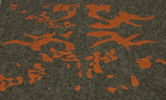 Unfinished |brown & orange by Naturtex | Rugs / Designer rugs