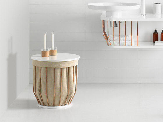 Bowl Basket Stool by Inbani | Laundry baskets