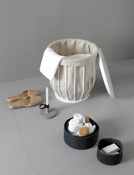 Bowl Basket Stool + Canvas Sack by Inbani | Laundry baskets