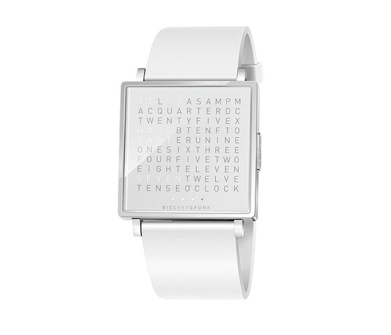 QLOCKTWO® W Snowflake Polished by BIEGERT&FUNK | Wrist watches