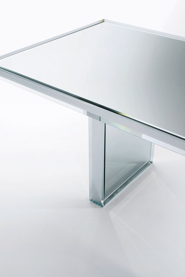 Prism Mirror Table by Glas Italia | Dining tables