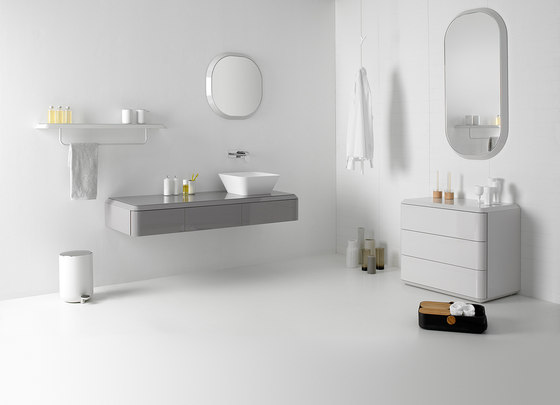 Fluent Countertop Cristalplant® Washbasin by Inbani | Wash basins