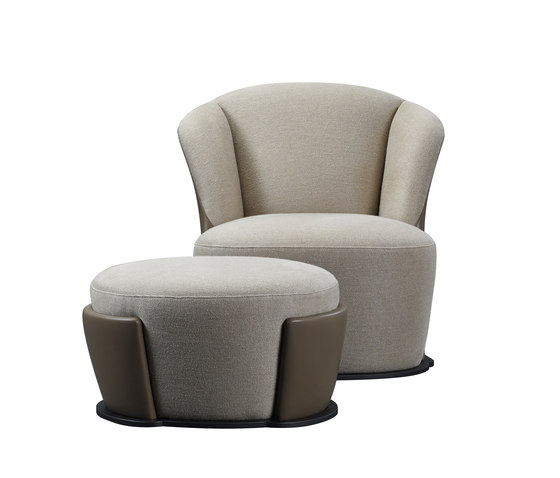 Rosaspina armchair & pouf by Promemoria | Lounge chairs