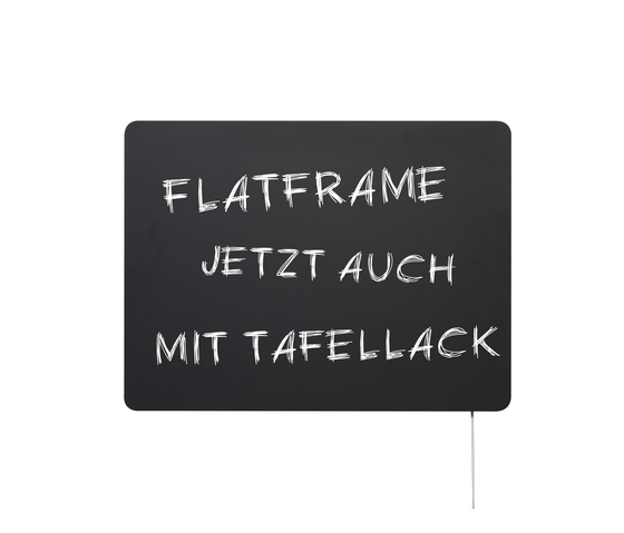 Flatframe with blackboard paint by Müller small living | Shelving