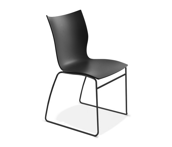 Onyx I 3240/00 frame black by Casala | Multipurpose chairs