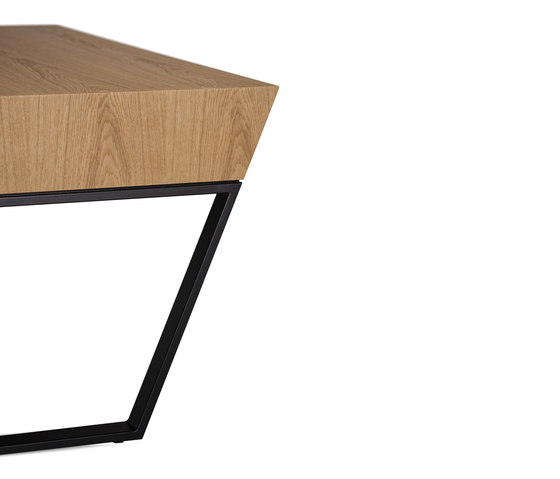AIR 202 WOOD Smoked Oak by bau+art | Desking systems