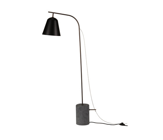 Line One, Black: Plug EU Standard by NORR11 | Free-standing lights