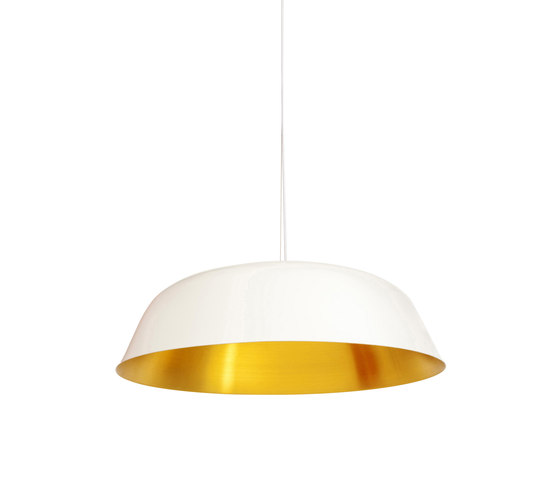 Cloche Three, White by NORR11 | Suspended lights
