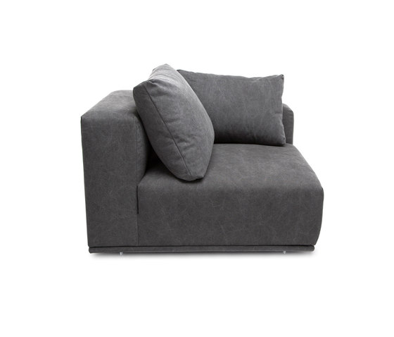 Madonna Sofa, Left Arm: Canvas Washed Black 066 by NORR11 | Modular seating elements