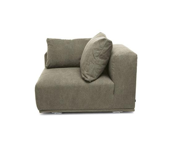 Madonna Sofa, Right Arm: Canvas Washed Green 156 de NORR11 | Elementos asientos modulares