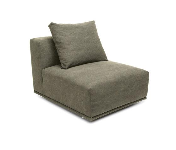 Madonna Sofa, Center: Canvas Washed Green 156 de NORR11   Elementos asientos modulares