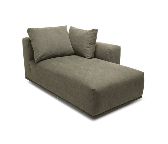 Madonna Sofa, Chaise Longue Left: Canvas Washed Green 156 de NORR11 | Chaises longues