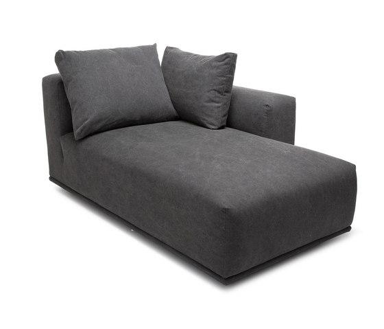 Madonna Sofa, Chaise Longue Right: Canvas Washed Black 066 de NORR11 | Chaise longues