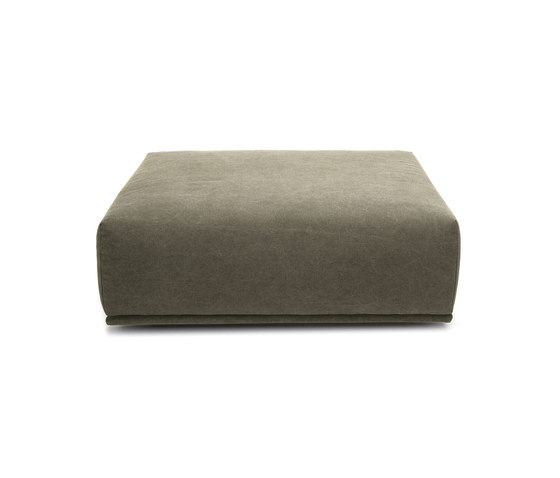 Madonna Sofa Ottoman, Small: Canvas Washed Green 156 de NORR11 | Pufs