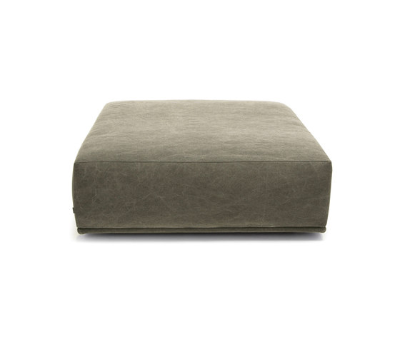 Madonna Sofa Ottoman, Large: Canvas Washed Green 156 de NORR11 | Pufs
