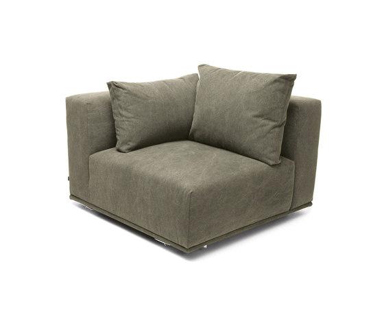 Madonna Sofa, Corner Right: Canvas Washed Green 156 de NORR11   Elementos asientos modulares