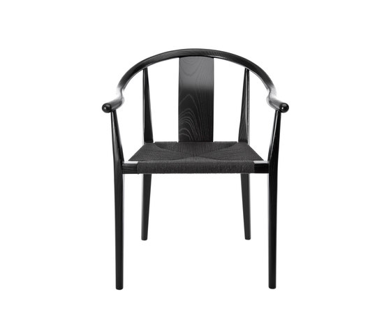 Shanghai Dining Chair, Paper Cord - Black/Black by NORR11 | Chairs