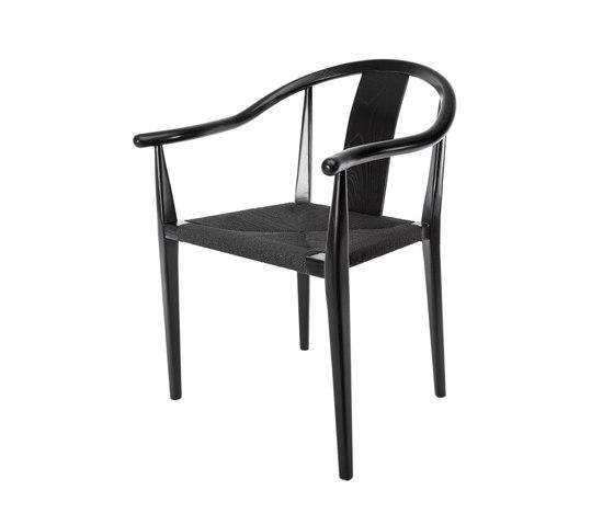 Shanghai Dining Chair, Paper Cord - Black/Black di NORR11 | Sedie