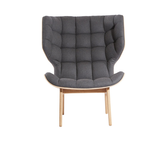Mammoth Chair, Natural / Wool: Coal Grey 067 by NORR11 | Lounge chairs