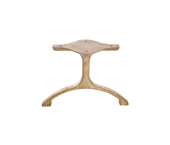 Table Legs Maiden, Set - Brass/Low by NORR11 | Trestles