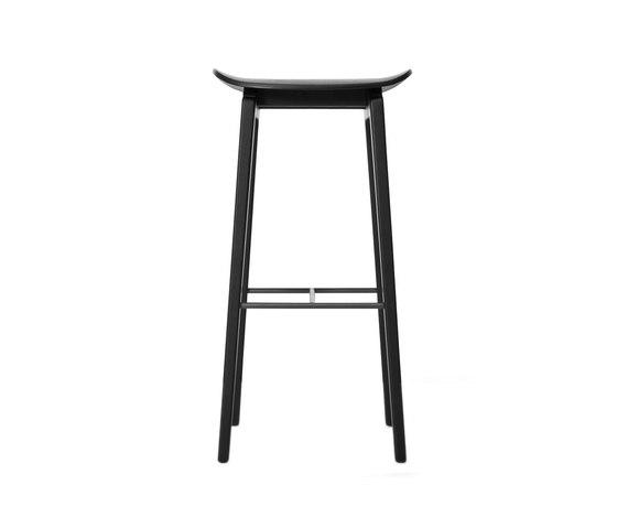 NY11 Bar Chair, Black: High 75 cm by NORR11 | Bar stools