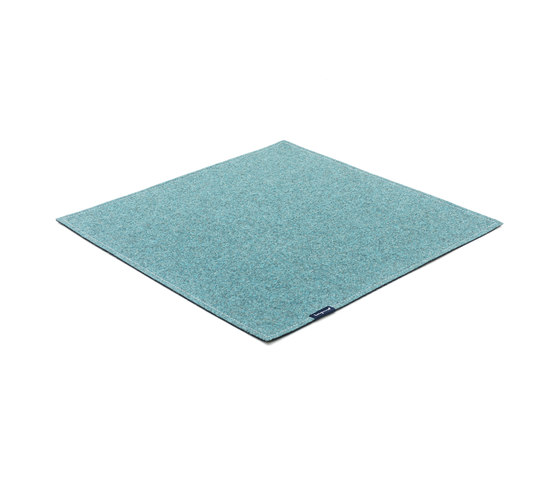 Fabric [Flat] Felt turquoise by kymo | Rugs / Designer rugs
