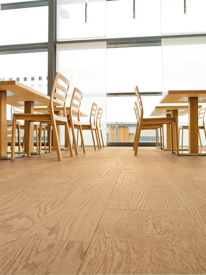 OAK Clear brushed | natural and white oil by mafi | Wood flooring