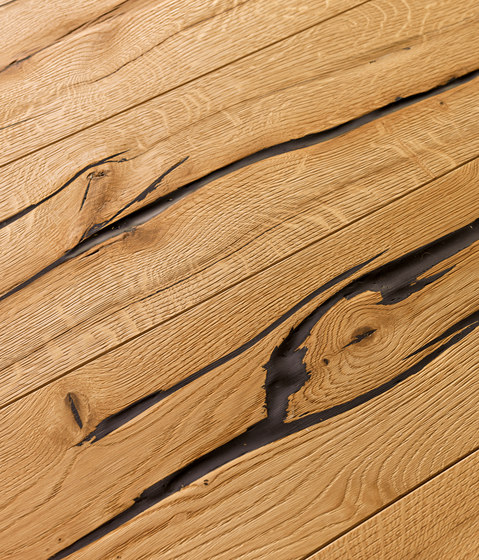 OAK Wild heavily brushed | natural oil by mafi | Wood flooring
