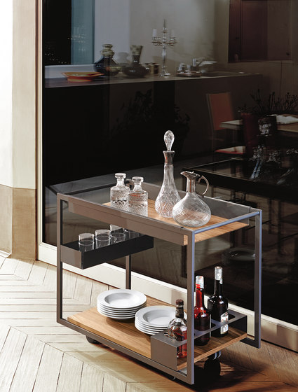Mojito Wood by Cattelan Italia | Tea-trolleys / Bar-trolleys