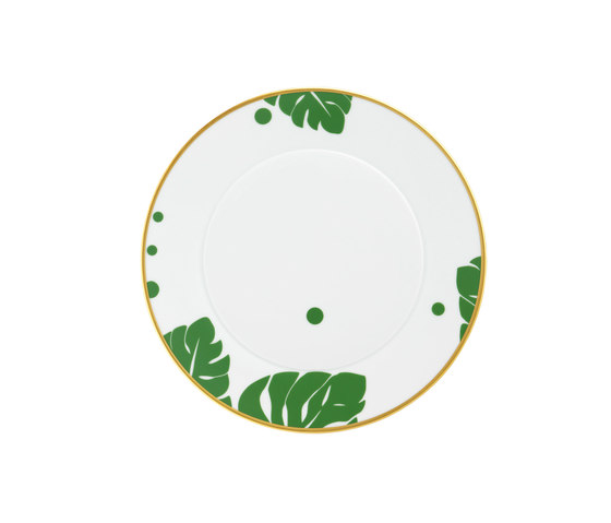 AURÉOLE COLORÉE Breakfast plate by FÜRSTENBERG | Dinnerware