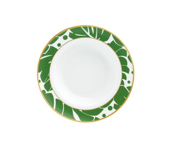 AURÉOLE COLORÉE Soup plate by FÜRSTENBERG | Dinnerware