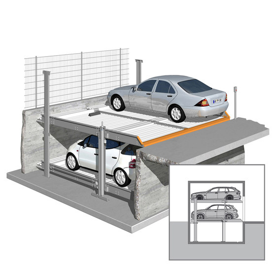 Outdoor by KLAUS Multiparking   Semi automatic parking systems