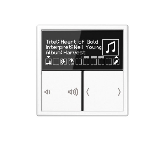 KNX Multiroom amplifier operation by JUNG | KNX-Systems