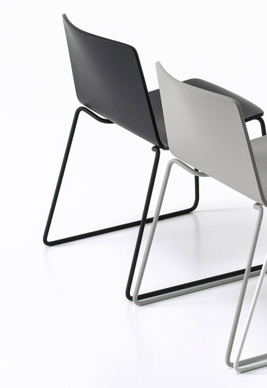 Rama Slide Base Outdoor by Kristalia | Garden chairs