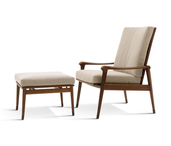 Denny Armchairs with Footrest von Giorgetti | Sessel