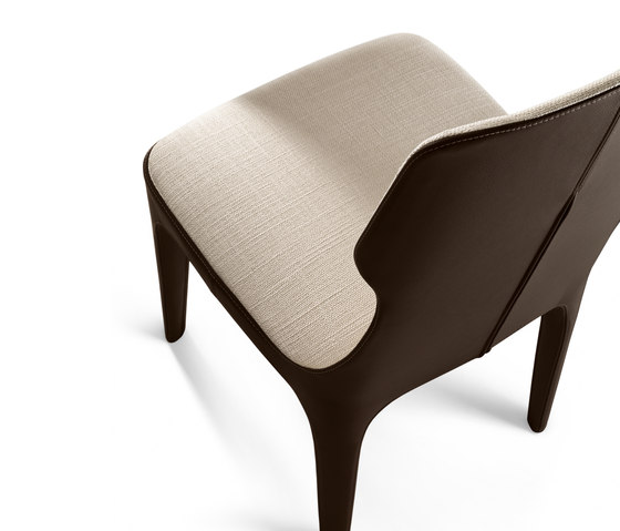 Tiche Chair by Giorgetti | Visitors chairs / Side chairs