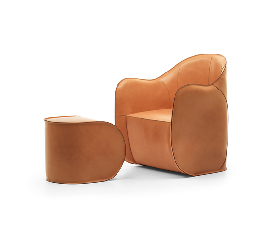 Exo armchair and pouf by Eponimo | Armchairs