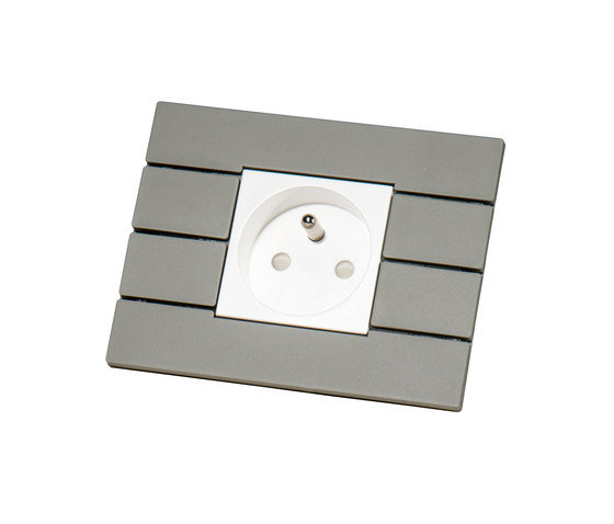 Piano by Lithoss | uni colour socket RAL7030 by Lithoss | Schuko sockets