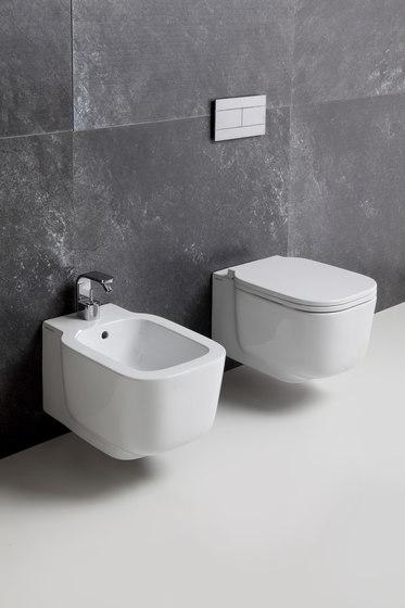 Cubika di ceramica cielo lavabo sospeso 120 vaso for Lavandini sospesi