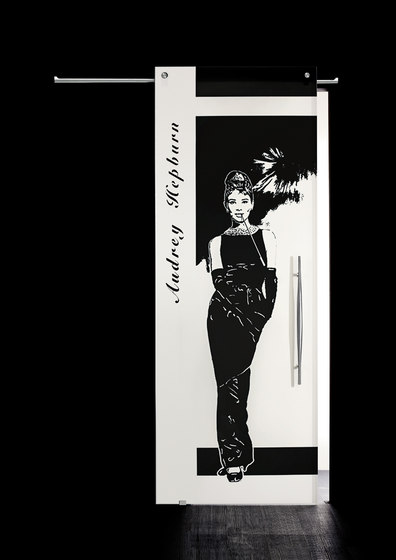 Sliding Door⎟Audrey Hepburn, full body by Casali | Internal doors